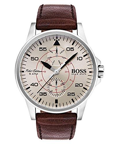 Hugo BOSS Reloj Multiesfera para Hombre de Cuarzo con Correa en Cuero 1513516