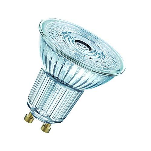 OSRAM Spot PAR16 Lampadine LED, 4.5 W Equivalenti 50 W, Attacco GU10, Luce Naturale 4000K, Confezione da 10 Pezzi