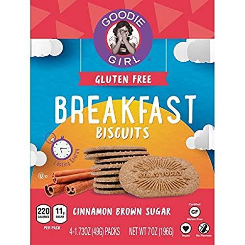 Goodie Girl, Breakfast Biscuits, Cinnamon Brown Sugar, 4 Ct, Net wt. 7 Oz