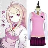 Danganronpa V3 Cosplay Akamatsu Kaede disfraz uniforme de mujer camisa de anime/chaleco/falda/calcetines/pelucas Jk uniforme escolar disfraz 1
