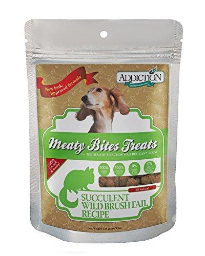 Addiction Grain Free Meaty Bites Wild Brushtail Pet Dog Snacks Soft Treats 12z