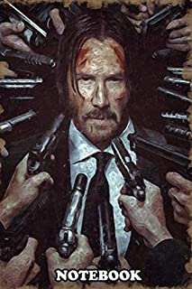 Notebook: Check Out For Mo John Wick In Van Gogh Painting Style , Journal for Writing, College Ruled Size 6