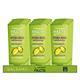 Garnier Multi Pack Balsamo Fructis Hydra Ricci Contouring per Capelli Ricchi Tendenti al Crespo, 200 ml, Confezione da 12