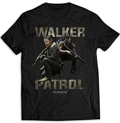 The Walking Dead Rick Grimes Daryl Dixon Officiel T-Shirt Hommes Unisexe (Medium)