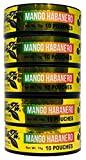 TeaZa Herbal Energy Pouch Mango Habanero 5 Cans with DC Crafts Nation Skin Can Cover - US Flag