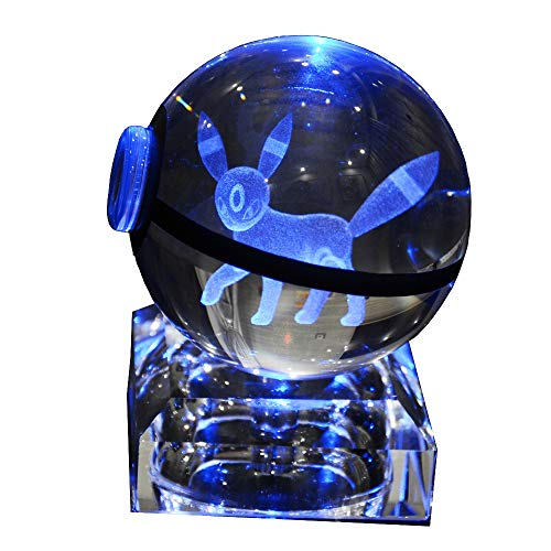 3D K9 Crystal Ball LED Night Light Bedroom 7 Color Changing Table lamp