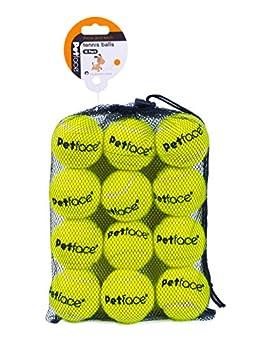 Petface Lot de 12 balles de Tennis pour Chien