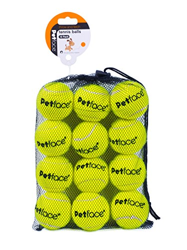 Petface Super Tennis Balls for dogs, throw and fetch, outdoor exercise, 12...