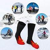 Elektrische beheizte Socken, 1 Paar Batterie warme Socken kaltes Wetter Thermische Socken Sport Outdoor Camping Wandern warme Winter Socken für Männer Frauen - 9