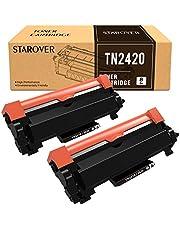 STAROVER TN-2420 TN2420 Cartucho Tóner Compatible para Brother MFC-L2710DN MFC-L2710DW MFC-L2730DW MFC-L2750DW DCP-L2550DN DCP-L2530DW DCP-L2510D HL-L2375DW HL-L2370DN HL-L2350DW HL-L2310D (2 Negro)