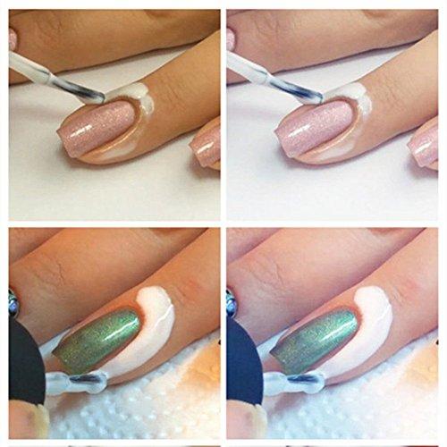 COFCO Base protectrice du contour de l'ongle, anti-débordement lors de l'application de vernis à ongles, s'enlève en tirant, 15 ml