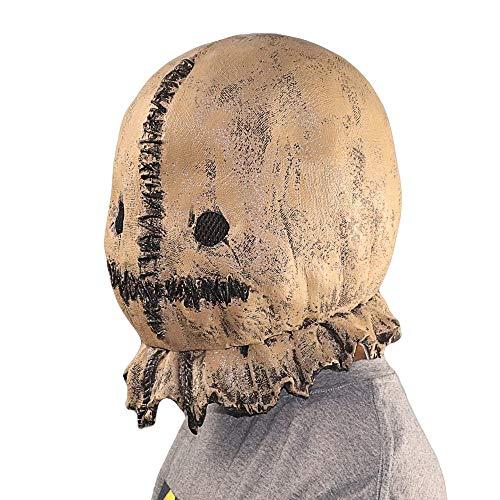 Quan Jin Halloween Vogelscheuche Maske Lustige Kostüme Nachahmung Rollenspiele Erwachsene Welt Tier Weibliche Geistermaske Prom Bar Party Karneval Make-Up Horror Kopfbedeckungen Gummi Requisiten