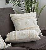 Medina Housse de coussin décorative avec dentelle - Pour salon, chambre, balcon, canapé - 30 x 50 cm