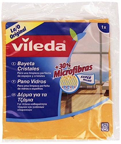 Vileda - Bayeta para cristales con 30% microfibras
