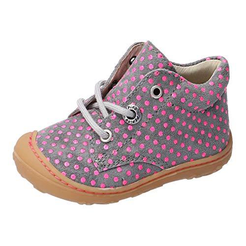 RICOSTA Kinder Lauflern Schuhe DOTS von Pepino, Weite: Mittel (WMS), schnürschuh schnürstiefelchen flexibel leicht Kinder,Graphit,19 EU / 3 Child UK