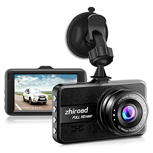 "Dash Cam FHD 1080P Car Camera DVR Dashboard for Cars 3"" LCD Screen with 170°Wide Angle,G-Sensor, WDR, Parking Monitor, Loop Recording Motion Detection Driving Recorder-Black"