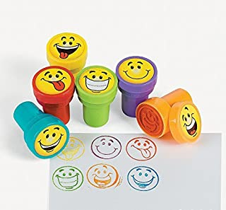 Fun Express 24 pc Goofy Smile Silly Face Stamps [Toy]