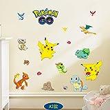 Pegatina de pared de Turtwig Pikachu Pokemon