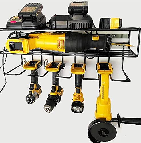c2M Heavy Duty Floating Tool Shelf | Wall Mounted Storage Rack for Handheld & Power Tools | Compact Steel Design w/ 100# Weight Limit | Made in the USA & Perfect for Father's Day