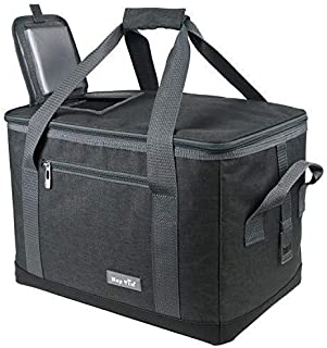 Hap Tim Soft Cooler Bag 40-Can Large Reusable Grocery Bags Soft Sided Collapsible Travel Cooler for Outdoor Travel Hiking ...