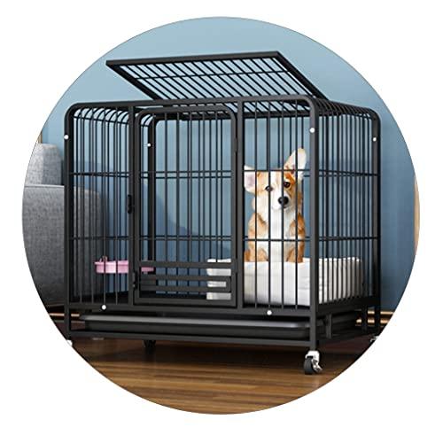 Jaulas para Gatos Pequeñas Y Medianas Sin Jaulas Jaulas para Conejos con Inodoros Jaulas para Mascotas De Colores para Interiores con Bandejas Y Negrita (Color : Black, Size : 78 * 54 * 75cm)