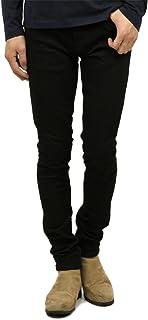 [ヌーディージーンズ] Nudie Jeans 正規販売店 メンズ ジーンズ スキニーリンSKINNY LIN 992 1115390 DENIM JEANS BLACK BLACK W31 L30 (コード:4117806213-4-2)
