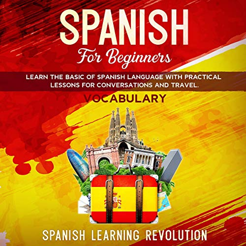 Spanish for Beginners: Learn the Basic of Spanish Grammar Language with Practical Lessons for Conversations and Travel (Vocabulary) audiobook cover art