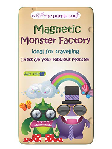 The Purple Cow- Monster Factory Game- Magnetic Travel Game. Great for Travel and On-The-Go. A Monstrous 'Dress Me Up' Game. Activity for Boys and Girls