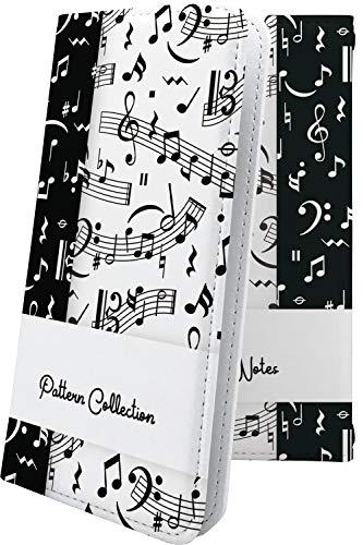 ケース ZenFone3 Deluxe ZS570KL / ZS550KL 互換 マルチタイプ マルチ対応ケース 手帳型 デザイン イラスト 音楽 音符 ゼンフォン デラックス ロゴ ワンポイント ロゴ入り zenfone 3 zs 570kl 550kl 楽器 音楽 音符 [uu260709aCG]