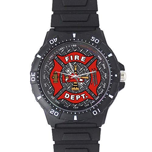 Firefighter Emblem Plastic Watch