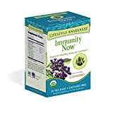 Lifestyle Awareness Immunity Now Tea with Fortifying Elderberry, Caffeine Free, 20 Tea Bags, Pack of...