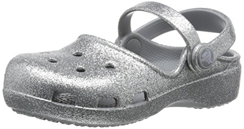 Crocs Karin Sparkle Clog Kids, Niñas Zueco, Plateado (Silver), 29-30 EU