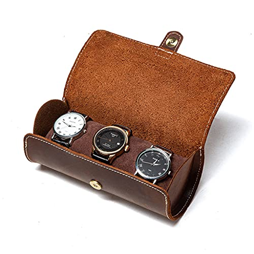 Caja de almacenamiento de reloj, organizador de cuero para reloj familiar, bolsa de joyería de cristal, caja de almacenamiento para el hogar, oficina, organizador de bolsa suministros