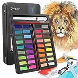 DIAOPROTECT Caja de Acuarelas, Set de Pintura de Acuarela Profesionales & Papel de Acuarela, Versátil, Vibrante y Portátil Colores Acuarela Conjunto, 36 Colores