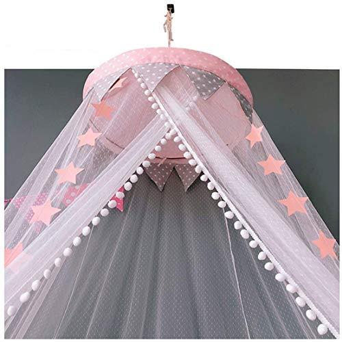 WLD Summer Mosquito Net Prinses luifel met gaas gordijn - Tent voor peuter Bed met muggennetgordijn - Dome Lezen Tent voor kinderen kamer Decoratie eenvoudig te installeren, Hangende Kit, Geen Chemicals Blauw