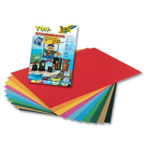 folia Tonpapierblock, DIN A4, 130 g qm, 20 Blatt 600