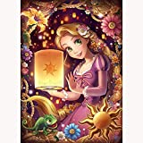 YANGCH Kit de punto de cruz de mosaico de bricolaje, princesa rubia de dibujos animados, bordado de diamantes, decoración de arte de pintura de diamante redondo(19.7x27.6inch)