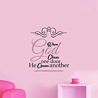 Mcdeog Motivational Wall Sticker Quotes When God Closes One Door He Opens Another