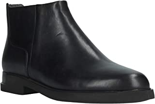 Womens Iman Alsina Black Leather Chelsea Boots Size