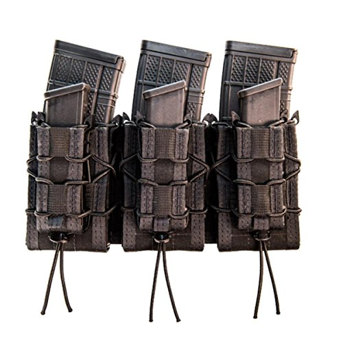 Check Out This High Speed Gear MOLLE Double Decker TACO Shingle, 3 Rifle/Pistol Mag Pouches - Black