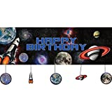 Creative Converting Space Blast Party Banner w/ Hanging Attachments (Each)