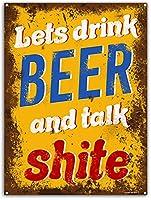 面白いホームバーのお知らせ。 ビールを一杯飲んで話しましょう。 金属錫マーク。 面白い犬のクリーニング屋さん。 大きさが大きい。