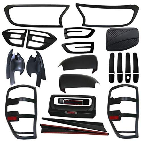 Kit de carrocería para Ford Ranger T7 T8 Wlidtrak PX MK2 MK3 XL XLT Limited Accesorios de estilo para carrocería 2015-2020 (negro mate)