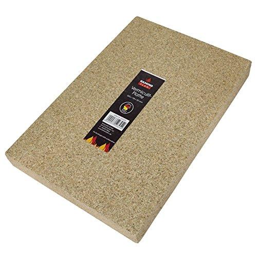 KAMINO FLAM Vermiculitplatte Kaminplatte  333323, 30 x 19.8x 3 cm