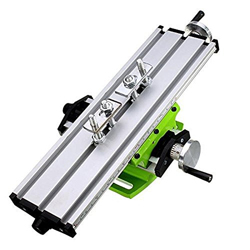 Mini Milling Machine Work Table Vise Portable Compound Bench X-Y 2 Axis Adjustive Cross Slide Table , for Bench Drill Press 12.2inches-3.54' (310mm 90mm)