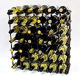 Cranville wine racks Bois Classique 42 Bouteille chêne teinté foncé et casier à vin en métal galvanisé prêt assemblé