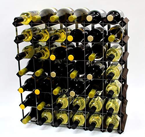 Cranville wine racks Klassische 42 Flasche Eiche dunkel gebeiztem Holz und verzinktem Metall Weinregal fertig montiert