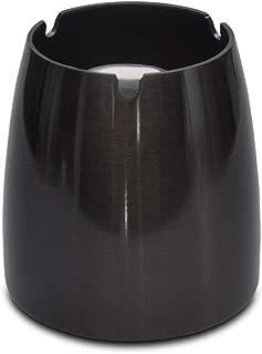 Argento//Nero marion10020 Posacenere Pieghevole in Metallo Cromato