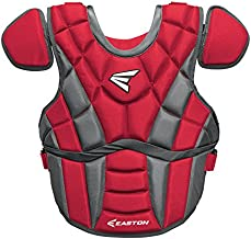 EASTON PROWESS Fastpitch Softball Catchers Chest Protector | 2 Piece TORSO FLEX for Best Fit , Mobility , Protection | BIODri Sweat Wicking Liner | 4 Point Adjustable Strap System