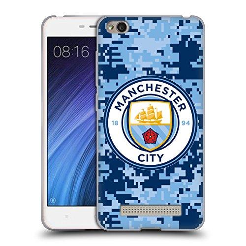 Head Case Designs Oficial Manchester City Man City FC Brick Bluemoon Camuflaje Digital Carcasa de Gel de Silicona Compatible con Xiaomi Redmi 4a